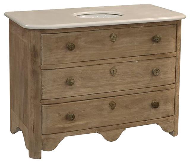 Reclaimed Oak And Marble Vanity Bathroom Vanities And Sink Consoles By Sarah Virginia Home
