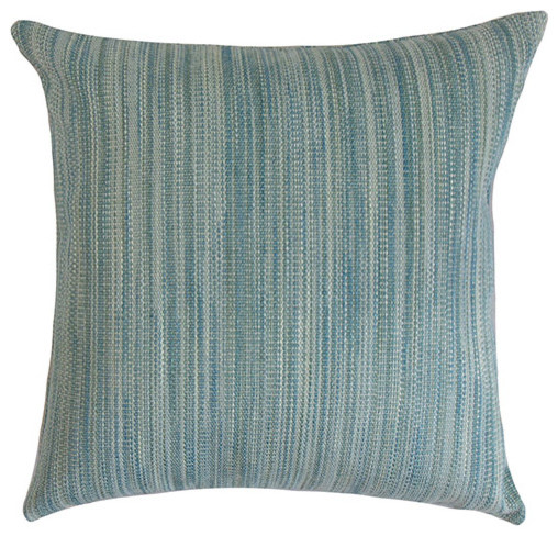 Orocue Blue 18 x 18 Solid Throw Pillow traditional-bed-pillows