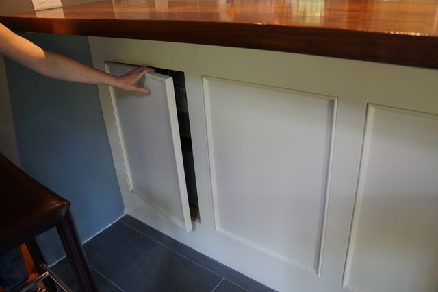 Hidden access panel traditional kitchen boston by for Bathroom access panel ideas
