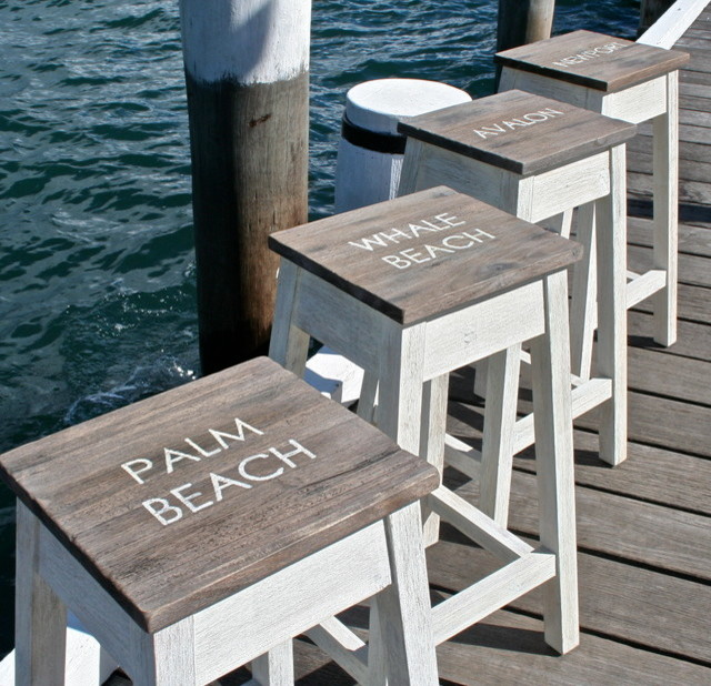 Coastal Kitchen Stool Beach Style Bar Stools And