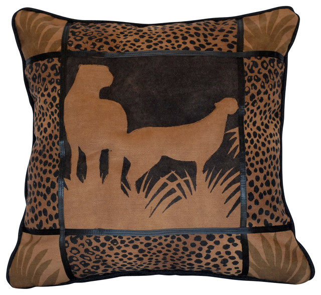African Tribal Embroidered Throw Pillow - Eclectic - Decorative Pillows - by Just The Right Pillow