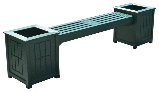 Eagle One Bench Planter - Contemporary - Outdoor Benches ...