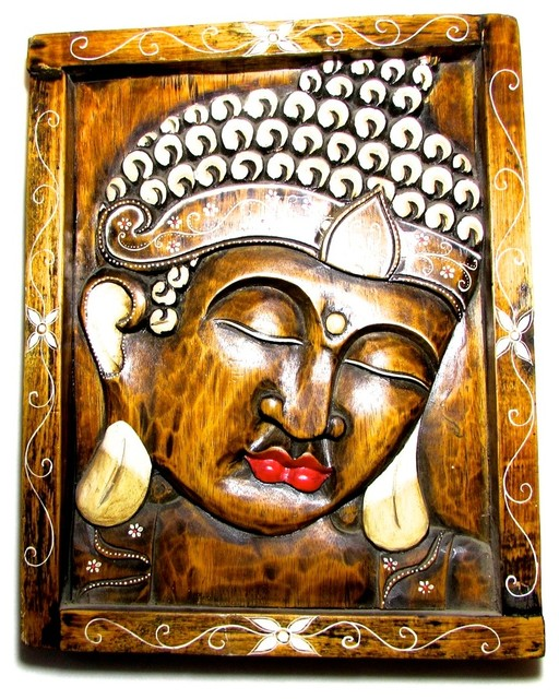 Buddha relief carving wall decor asian sculptures