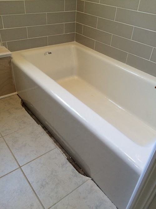 Need Help With A 2 Inch Gap Between My New Tub And The