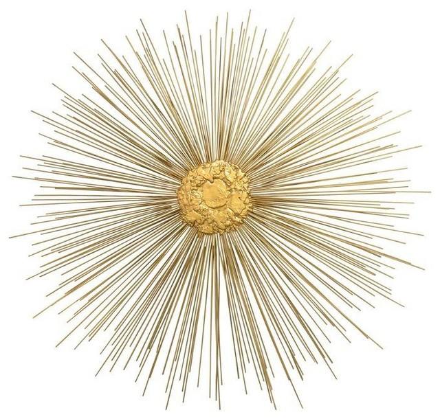 Vintage Large Gold Starburst Sculptures By Chairish