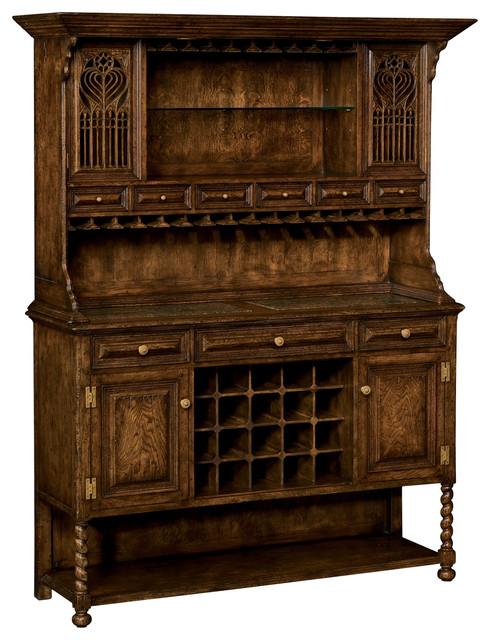 Jonathan Charles Tudorbethan Dark Oak Dresser For Drinks
