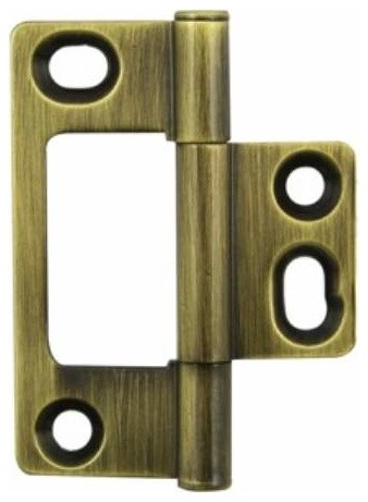Richelieu Brass Non-Mortise Flat Hinge 2 Inch Antique English - Contemporary - Hinges - by KnobDeco