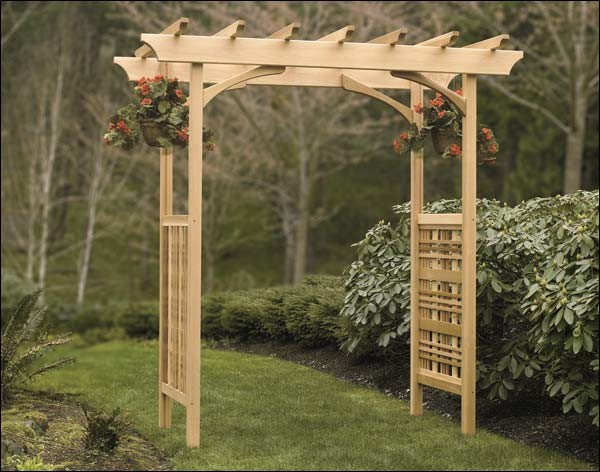 red cedar grand estate adjustable arbor contemporary pergolas arbors and trellises by. Black Bedroom Furniture Sets. Home Design Ideas