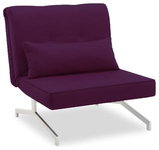 fauteuil convertible bz lit 1 personne violet contemporain fauteuil conve. Black Bedroom Furniture Sets. Home Design Ideas