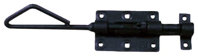 Black Wrought Iron Slide Door Bolt - Traditional - Door Locks - by Renovator's Supply