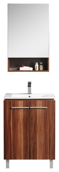 Fixtures Greenpoint Collection, Black Walnut, 24 , Vanity With Cabinet