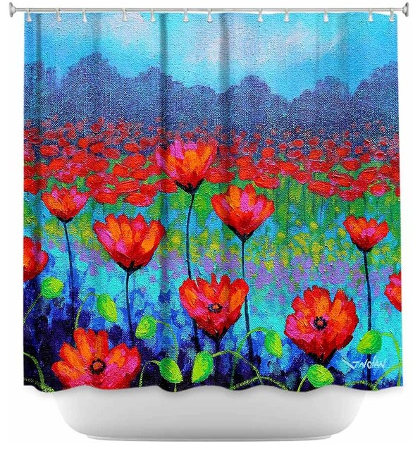 Shower Curtain Unique from DiaNoche Designs - Poppy Cluster I ...