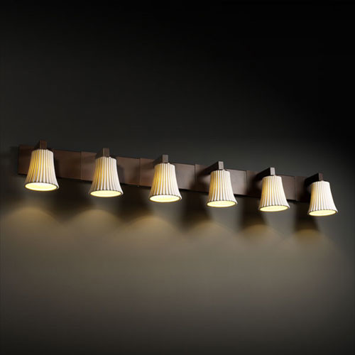 Dark Bronze Vanity Lights : Limoges Modular Six-Light Dark Bronze Bath Fixture - Contemporary - Bathroom Vanity Lighting ...
