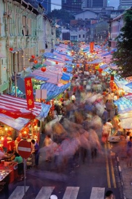 Chinatown in singapore photo wall mural asian for Asian wallpaper mural
