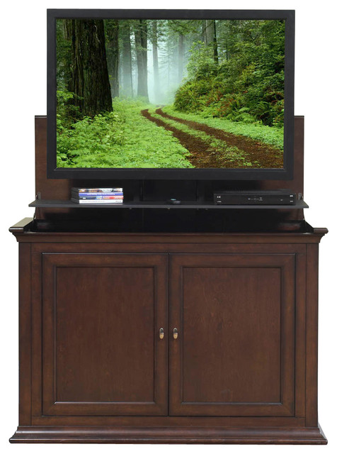 Harrison Espresso TV Lift Cabinet for Flat Screen up to 46 ...