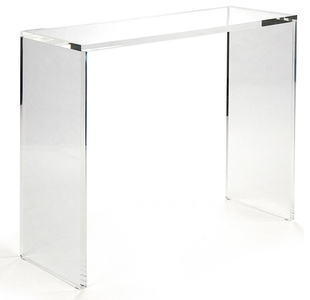 Cleon acrylic small console table modern dining tables for Small acrylic console table