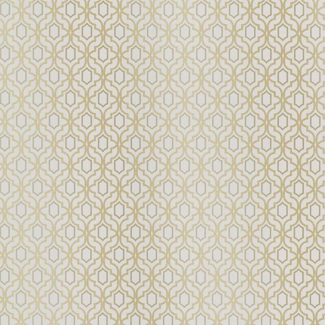 Modern Trellis Wallpaper: Alcazaba Taupe Trellis Wallpaper Swatch