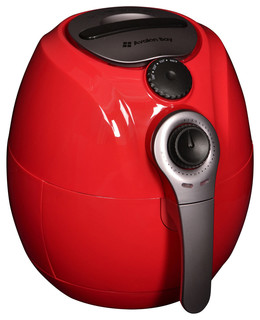 Avalon Bay Deluxe Airfryer Mini Convection Oven Red