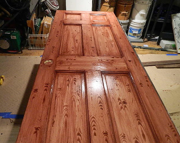 Faux wood grain finish for Faux wood front doors