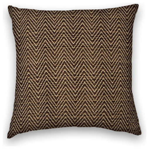 Dark Brown Throw Pillow : Dark Brown Herringbone Throw, 18x18 Pillow Cover - Traditional - Decorative Pillows - by Cody ...