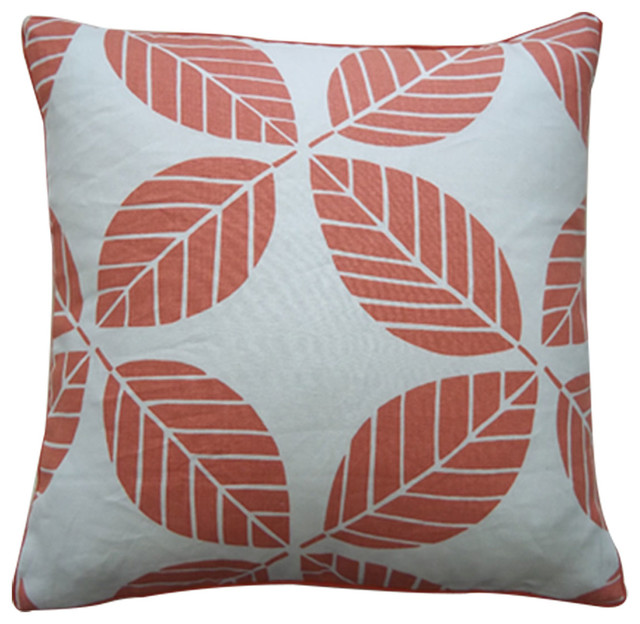 Small Coral Throw Pillows : Tiki Coral Pillow contemporary-decorative-pillows