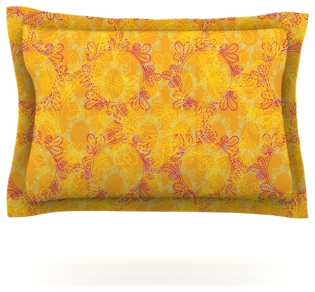 Orange pillow shams