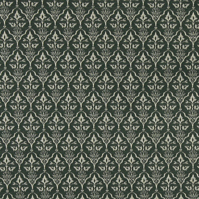Green Cameo Jacquard Woven Upholstery Fabric By The Yard