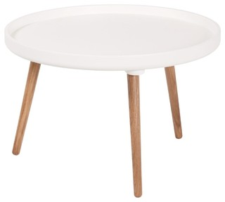 Table basse ronde kompass 55 basse couleur blanc for Table basse scandinave couleur