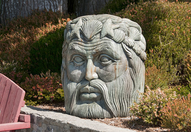 Neptune Face Contemporary Garden Statues And Yard Art