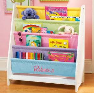 Personalized Pastel Color Canvas Bookshelf - Modern - Kids ...