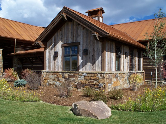 Barnwood Siding Rustic Exterior Denver By American