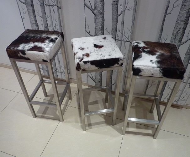Cowhide Bar Stools Modern Bar Stools And Kitchen