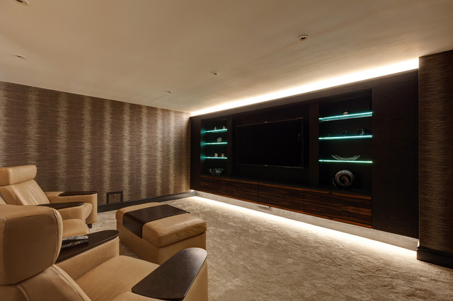 Bespoke Cinema Room Contemporary Home Cinema Cheshire By David Lisle Furniture