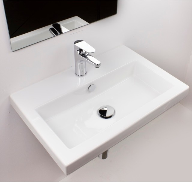 Beautiful Wall Mount Ceramic Bathroom Sink - Modern - Bathroom Sinks ...