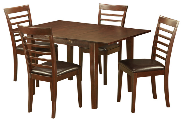 5 Piece Kitchen Nook Dining Set Small Table With 4 Dining