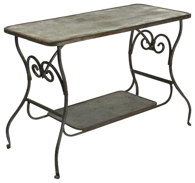 Dominique iron table traditional dining tables other for Traditional dining table for 8