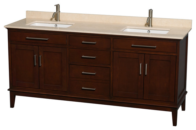 72 In Eco Friendly Double Sink Vanity Transitional Bathroom Vanities And Sink Consoles By