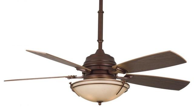 Three Light Wood Ceiling Fan