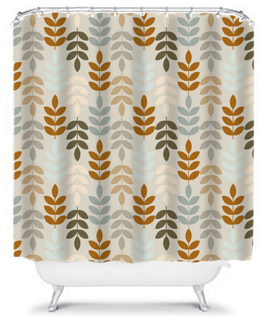 Shower Curtain Flower Brown Gray 71x74 Bathroom Decor Made In The USA Conte