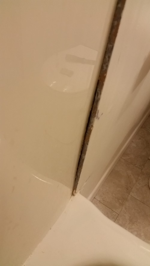 help- gap between drywall & shower