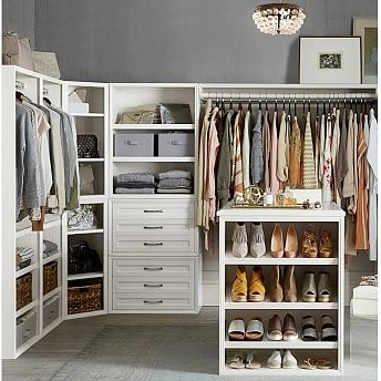 Sutton Closet Tall Narrow Tower, White - Traditional - Display And Wall Shelves - by Pottery Barn