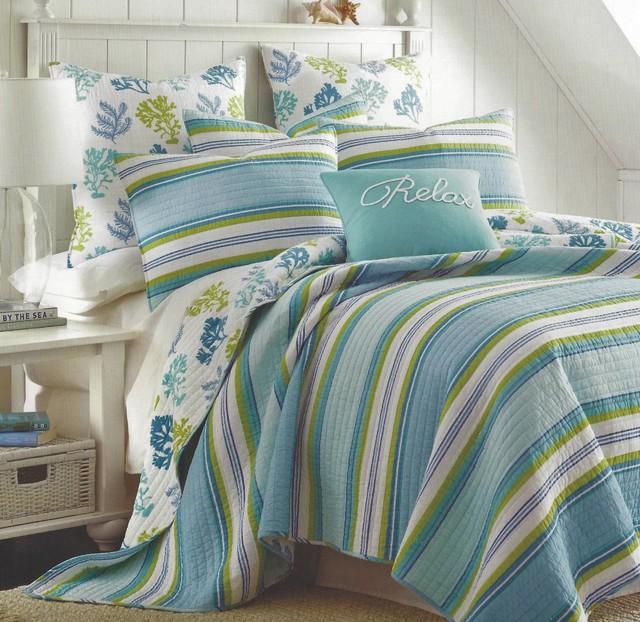 Cozumel Coastal Striped Quilt Set
