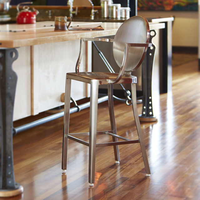 Stainless Steel Stools Kitchen: Dalton Home Indoor Chair Collection Brushed Stainless