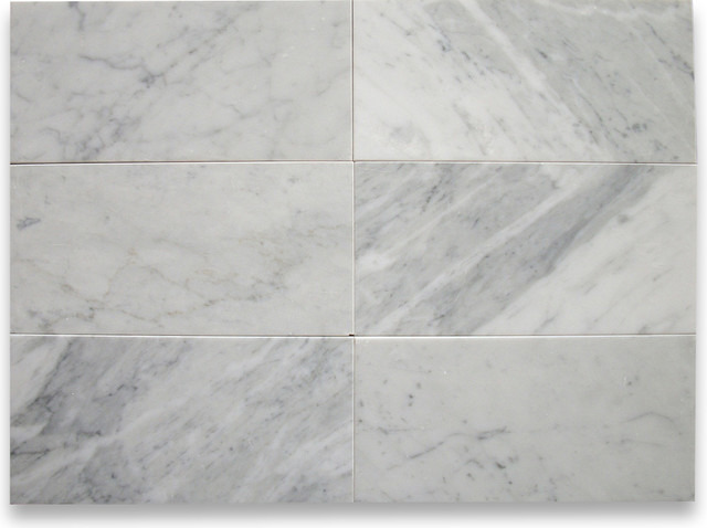 Carrara White 6 X 12 Subway Tile Honed Marble From Italy Tile By