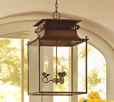 Bolton Lantern Traditional Outdoor Hanging Lights By Pottery Barn