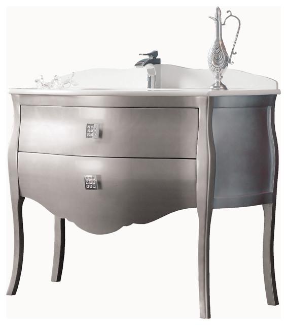 Macral Paris 44 3 4 Bathroom Vanity Silver Contemporary Bathroom Vanities And Sink