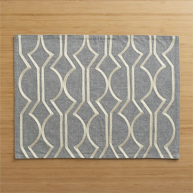 martini placemat contemporary placemats by crate barrel