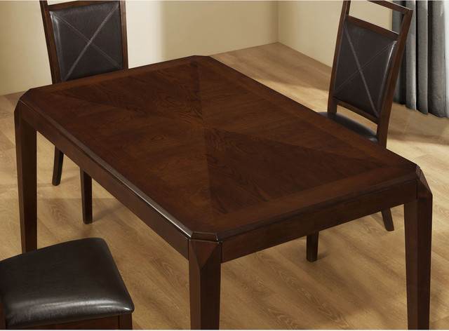 Brown oak veneer dining table contemporary dining tables by - Oak veneer dining table ...