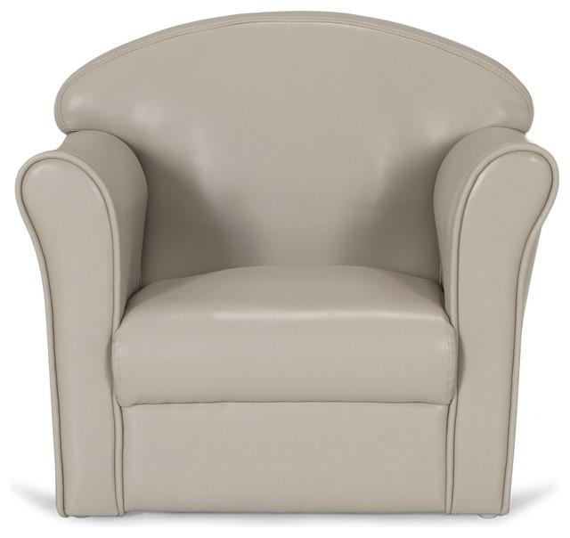 Clubby fauteuil club coloris taupe pour enfant r tro chaise enfant par - Fauteuil bebe alinea ...