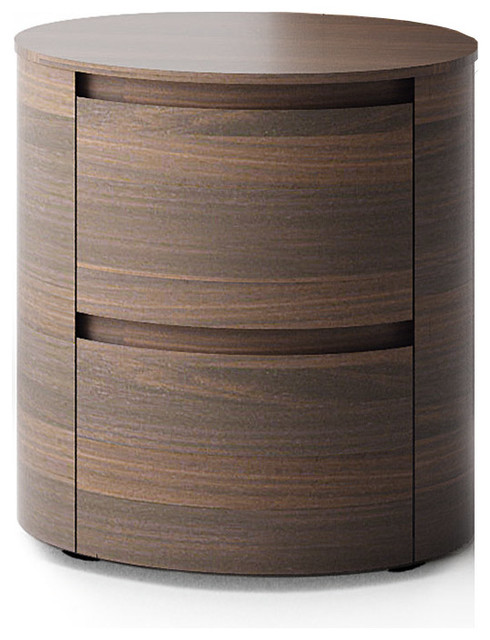 Universo Contemporary Round Bedside Cabinet With Drawers